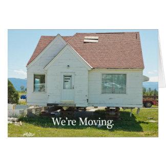 Mudança do cartão de endereço Nós estamos movendo
