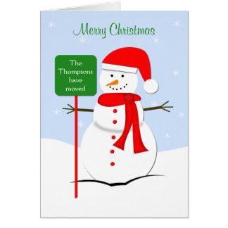 Mudança do cartão de Natal de endereço
