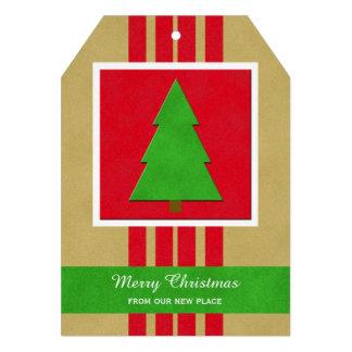 Mudança do cartão liso do Natal de endereço com Convite 12.27 X 17.78cm