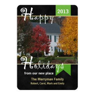 Mudança do cartão liso do Natal de endereço com Convite 12.7 X 17.78cm