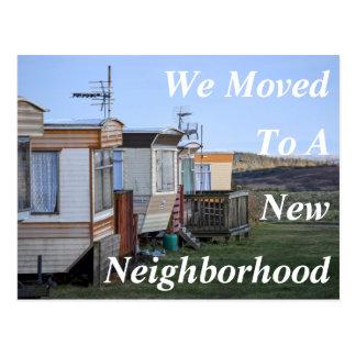 Mudança do cartão novo da vizinhança de endereço