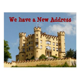 Mudança do castelo de endereço nós movemos cartão