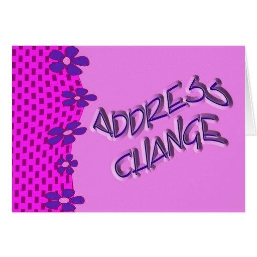 Mudança do endereço cartoes