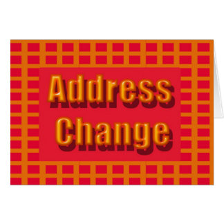 Mudança do endereço cartões