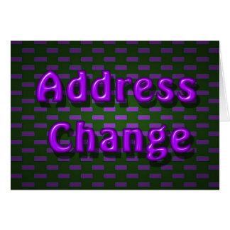 mudança do endereço cartao