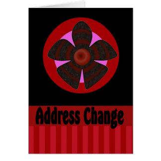 Mudança do endereço cartão comemorativo