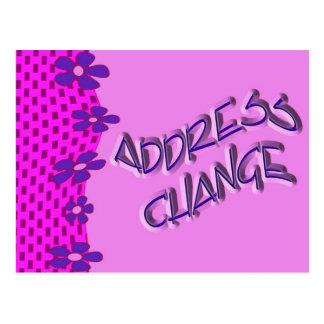 Mudança do endereço cartoes postais