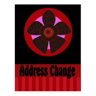 Mudança do endereço cartão postal