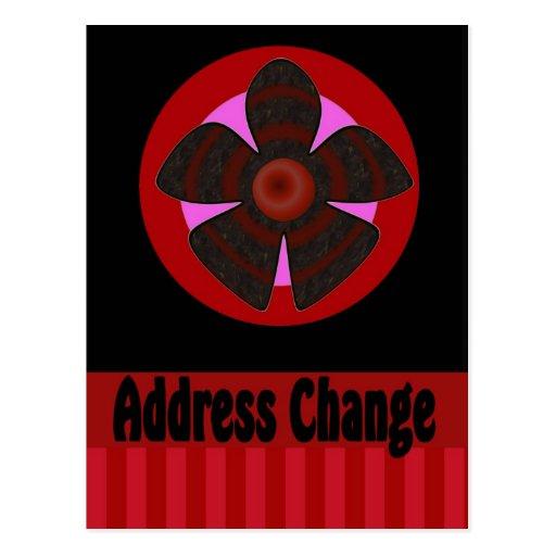 Mudança do endereço cartao postal