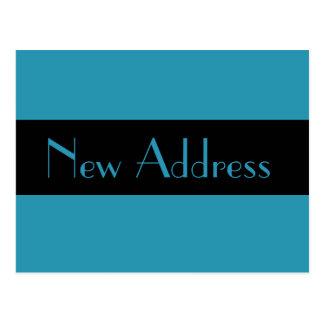 mudança do endereço do azul de turquesa cartao postal