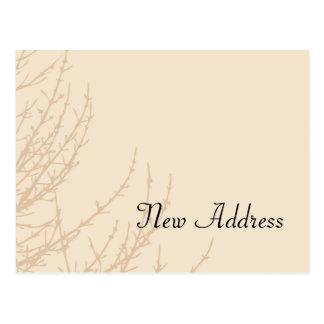 Mudança dos ramos da natureza do cartão de cartão postal