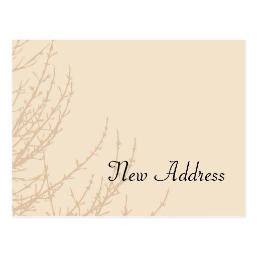 Mudança dos ramos da natureza do cartão de endereç cartão postal