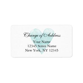 Mudança elegante de etiquetas de endereço para a etiqueta de endereço