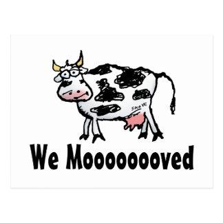Mudança engraçada da vaca do cartão de endereço