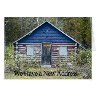 Mudança engraçada do cartão de endereço - lugar na