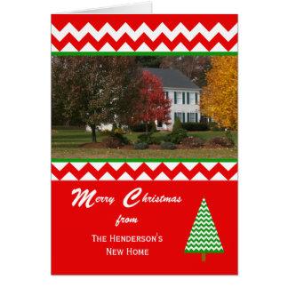 Mudança movente da foto do cartão de Natal de