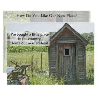Mudança privada do cartão de endereço: Casa do