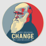 Mudança que muito gradual nós podemos acreditar adesivos redondos
