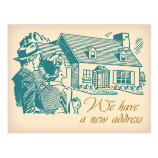 Mudança retro do cartão de endereço cartão postal