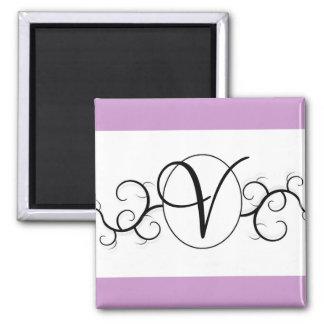 Mude a cor ou o monograma - ímãs do casamento ímã quadrado