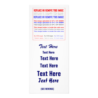 Mude a imagem ou suprima do Re-load do texto para 10.16 X 22.86cm Panfleto
