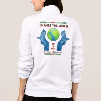 Mude o mundo, basculador americano do fecho de jaqueta