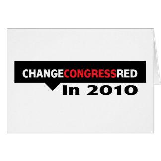Mude o vermelho do congresso em 2010 cartão