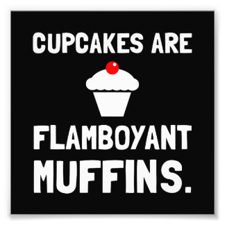 Muffin chamativos dos cupcakes impressão de foto