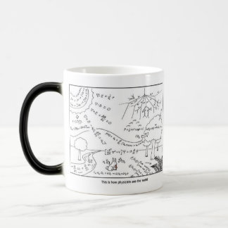 Mug How physicists see the world [RIGHT HANDED] Caneca Mágica