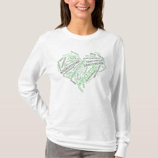 Muitas línguas) t-shirt bem-vindo do coração ( camiseta