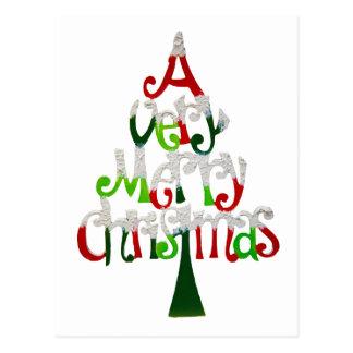 Muito árvore do Feliz Natal Cartão Postal