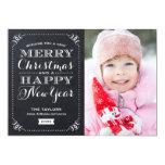Muito cartão com fotos do feriado do quadro do convites personalizado