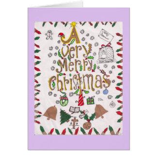 Muito cartão do Feliz Natal