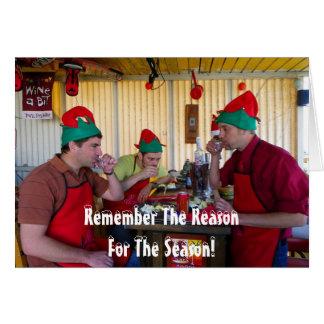 Muito cartão do Natal do divertimento!