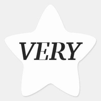 MUITO etiqueta da estrela Adesivo Estrela