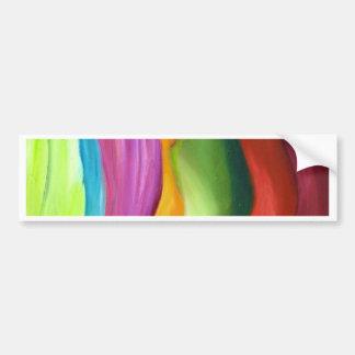 Muito pintura abstrata do colorfull adesivos