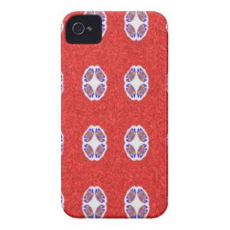 Muito teste padrão abstrato vermelho capinhas iPhone 4