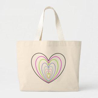 Muitos multi corações coloridos do néon da ilusão  bolsa para compra