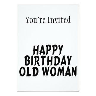 Mulher adulta do feliz aniversario convite 12.7 x 17.78cm