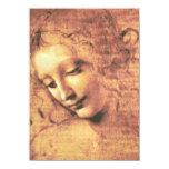 Mulher bonita por Leonardo da Vinci Convite 11.30 X 15.87cm