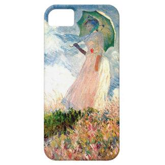"""""""Mulher com passeio Monet do parasol """" Capas Para iPhone 5"""