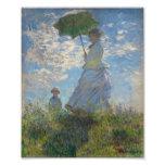 Mulher com um parasol - senhora Monet e seu filho Impressão De Fotos