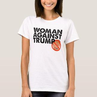 Mulher contra o trunfo - anti camisa da mensagem