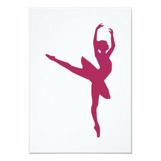Mulher da dança da bailarina convites personalizados