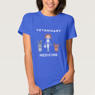 Mulher da medicina veterinária dos desenhos tshirts