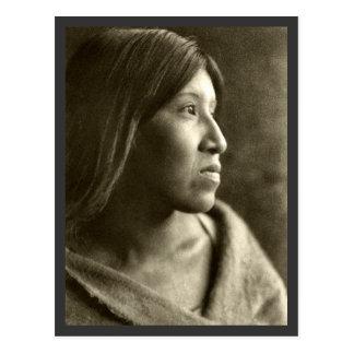 Mulher de Cahuilla do deserto Cartão Postal