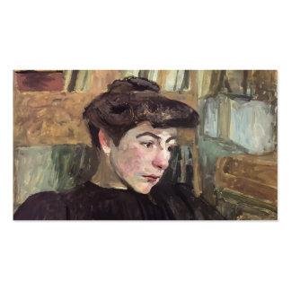 Mulher de Edouard Vuillard- com sobrancelhas preta Cartao De Visita