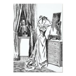 Mulher de esqueleto do Victorian do monstro do Convite 12.7 X 17.78cm