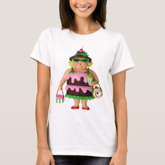 Mulher do bolo camiseta