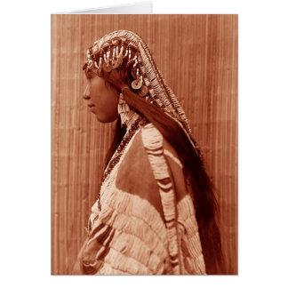 Mulher do nativo americano cartão comemorativo